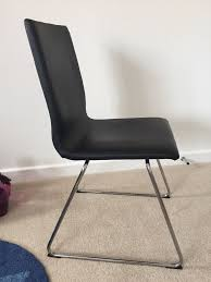 ikea volfgang black chair in toton nottinghamshire gumtree