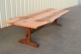 Dining Table Bed Live Edge Curly Maple Dining Table With Walnut Base Corey