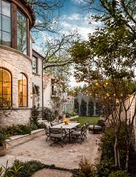 Outdoor String Lights Patio Backyard String Lights Patio Mediterranean With Arched Windows
