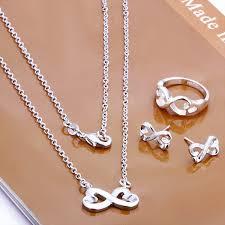 silver plated copper bracelet images Free shipping silver plated 8 shaped copper bracelet jewelry set jpg