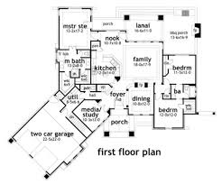 Craftsman Style House Floor Plans by Angled Media Room On Front Craftsman Style House Plan 3 Beds 2 5