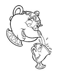 and the beast teapot clipart