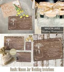 jar wedding invitations rustic wedding invitations invitesweddings