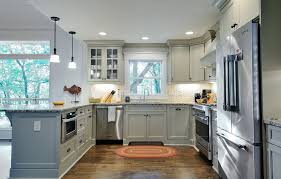 shaker style cabinets kitchen traditional with island fake in set