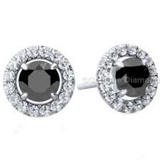 diamond earrings online black diamond earrings halo setting from gemone diamonds online