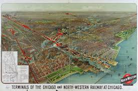 Map River North Chicago by Chicago U0026 Northwestern Wells Street Station