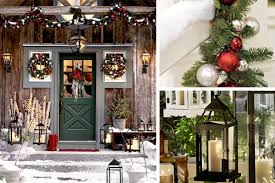 outside rustic decorations happy holidays