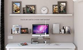 Wall Dvd Shelf Amazon Com Wallniture Contemporary Design U Shape Floating Solid