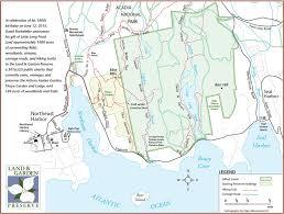 Portland Trails Map by David Rockefeller To Donate 1 000 Plus Acres On Mount Desert