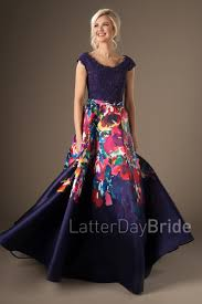 modest prom dresses flora multi