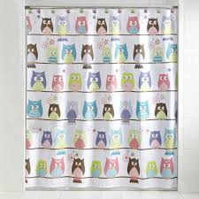 Owl Drapes Bathroom Fascinating Shower Curtain Walmart For Your Bathroom