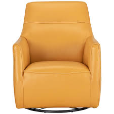 Swivel Accent Chairs by City Furniture Izzy Yellow Leather Swivel Accent Chair