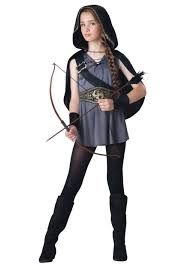 party city halloween costume coupons girls hooded huntress costume