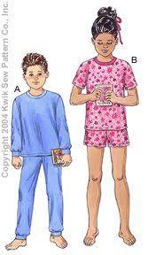 kwik sew 3234 unisex children pajamas