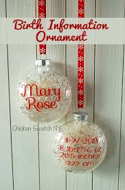 birth announcement ornaments chicken scratch ny