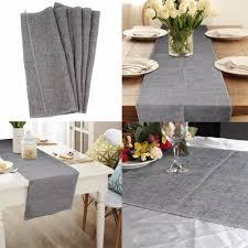 Burlap Home Decor Aliexpress Com Buy 2pcs Burlap Table Runner Wedding Decoration