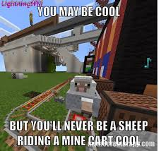 Meme Minecraft - sheep riding mine cart minecraft meme by lightningsfm on deviantart