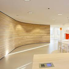 curved wood wall linear