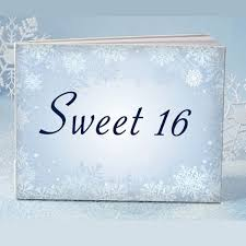 sweet 16 guest book winter sweet 16 guest book cassiani collection