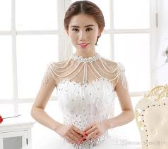 chain necklace dress images Bridal body chain flower body jewelry simulated pearl silver jpg