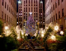 christmas tree in new york christmas lights decoration