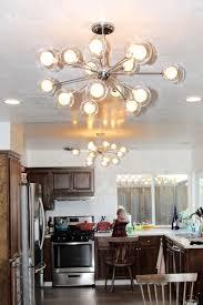 hanging a chandelier light fixture black sputnik flush mount original sputnik
