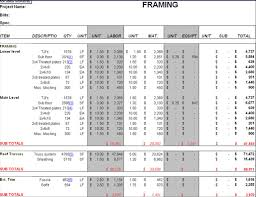 Mechanical Construction Estimating by Carpentry Sheets Carpentry Worksheets