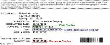 sample insurance inquiry or suspension order and insurance