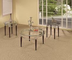 round glass coffee table sets amazing home design