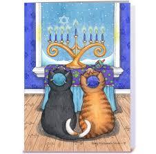 cat menorah happy hanukkah cats wearing yarmulke cat hanukkah and