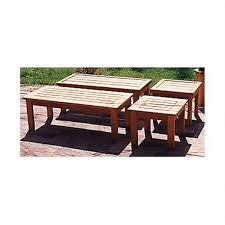 Plans To Build A Picnic Table And Benches by Woodworking Project Paper Plan To Build Patio Coffee Table And End