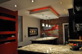 Kitchen Drop Ceiling Lighting Kitchen Suspended Ceiling Design With Ledp Lighting Systems Jpg