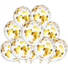 gold balloons 12 gold confetti balloons 6ct kitchen dining