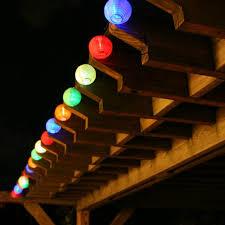 Patio Lighting Solar Colored Patio Lights