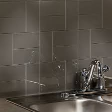 modern glass aspect backsplash 3 x6 glass tile in leather glass