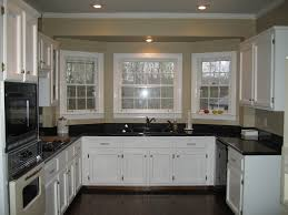 kitchen white cabinets with black inspirations granite countertops