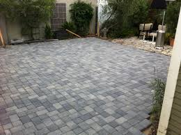 Backyard Paver Patios Simple Backyard Paver Design Idea And Decorations Installing