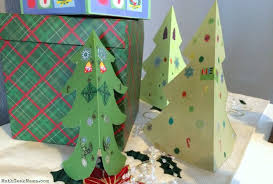 easy christmas tree symmetry craft