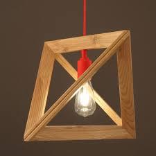 wood geometric geometric wood designer pendant light with cord 11 8 wide