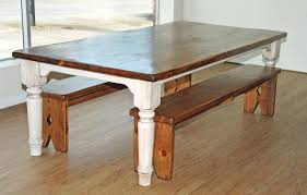 rustic kitchen table with bench drk architects