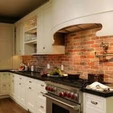 kitchen with brick backsplash the brick backsplash paired with the painted white dayton