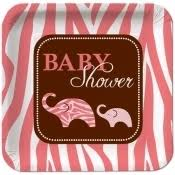 pink zoo baby shower decorations