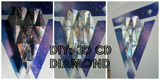 Designs Of Wall Hanging With C D Diy 3d Cd Diamond Youtube