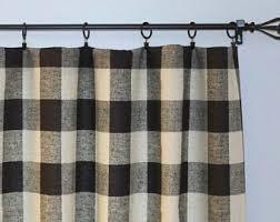 pair of buffalo check curtain panels anderson black and