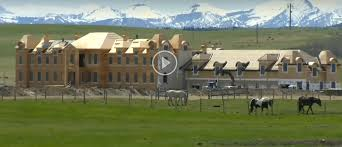 Large Mansions French Style Mega Mansion Under Construction In Alberta Canada