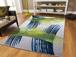 blue and green rug amazon com