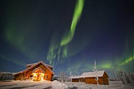Best Time Of Year To See Northern Lights Luxury Bed U0026 Breakfast Accommodation Log Cabins Northern Lights