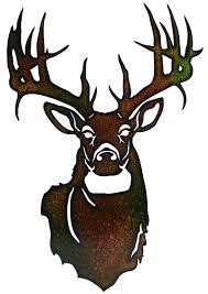 deer head laser cut metal deer head