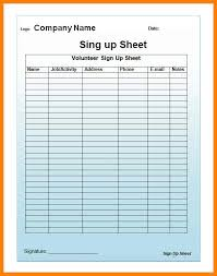nice sign up sheet templates photos template and example resume