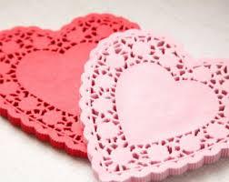 heart doilies pink heart doilies etsy